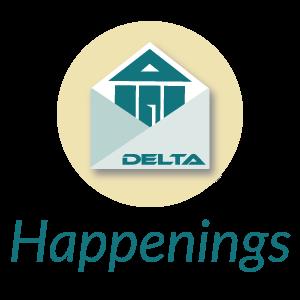 Delta Happenings Newsletter logo